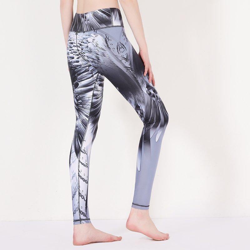 Patterned sports leggings custom women yoga pants print Y1912P03