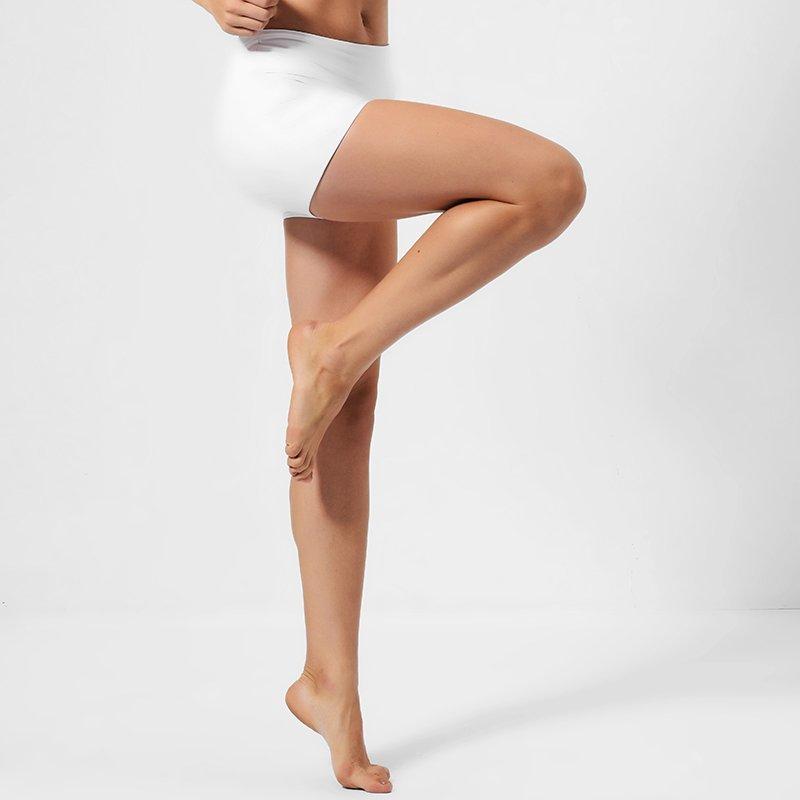 High waisted workout white hot yoga shorts GLS16001