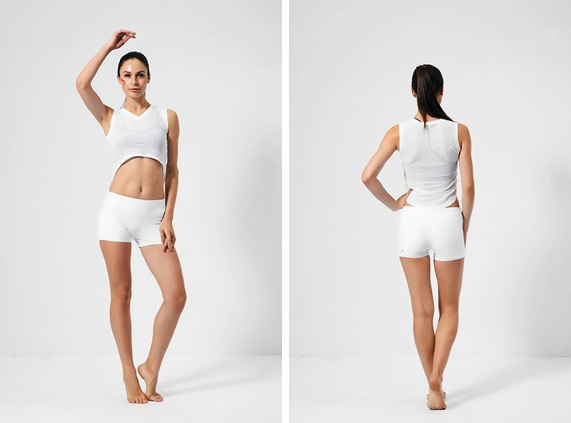 workout running waisted OEM wholesale women's shorts INGOR
