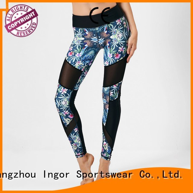 black floral OEM yoga pants