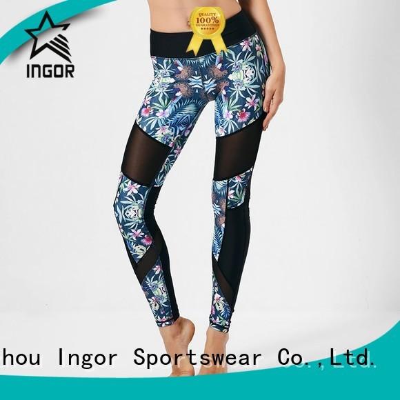 fashion running waisted ladies leggings INGOR Brand