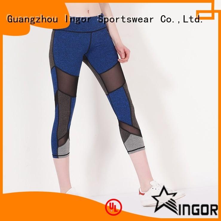 capri yoga blue yoga pants INGOR Brand company