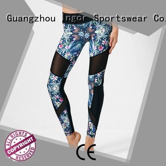 workout capri printed yoga pants INGOR