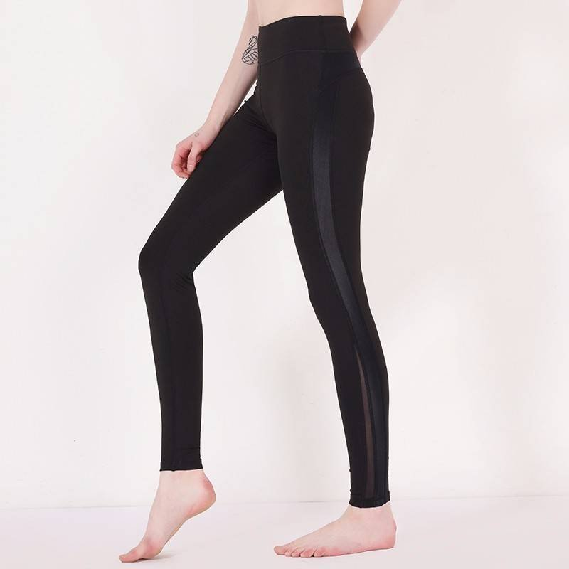 Black mesh yoga pants brands Y1911P02