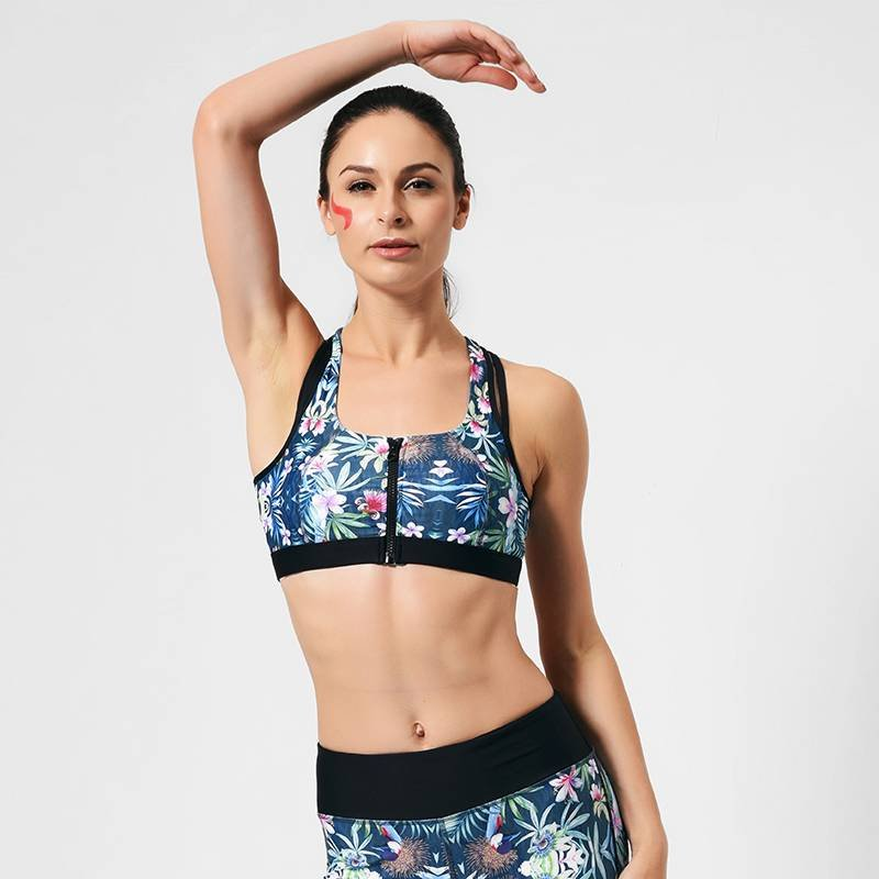 GYB16001 High Quality Best Front Zip Sports Bra Performance