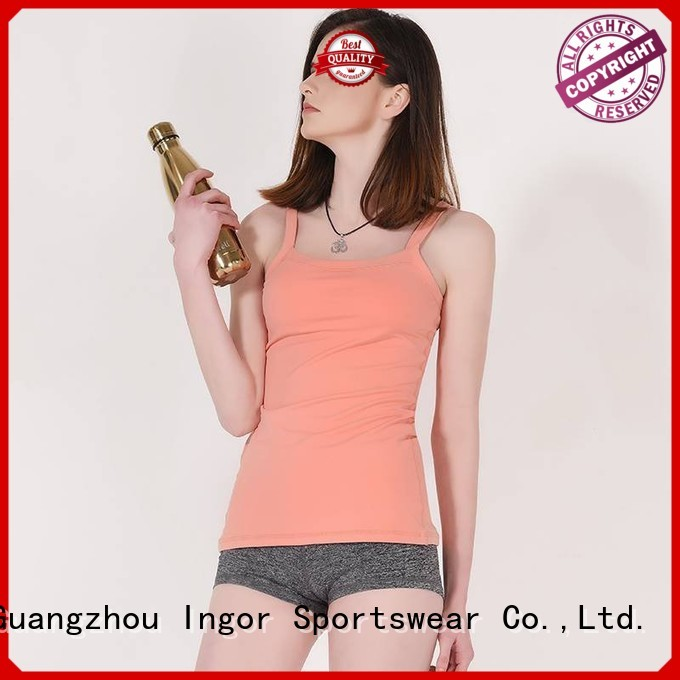 INGOR Brand top criss personalized sports tank top
