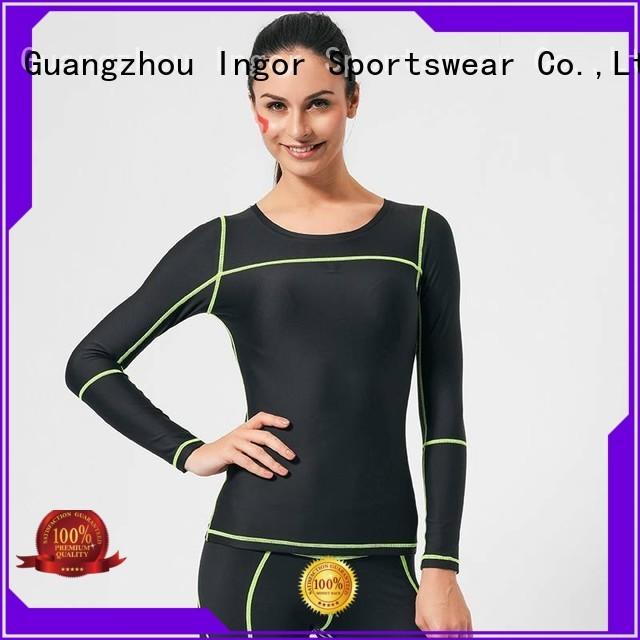 sweatshirts for ladies compression drawstring Sports sweatshirts design INGOR Brand