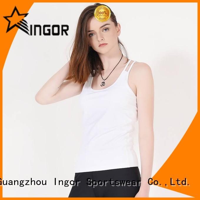 women's workout tank tops running mesh tight INGOR Brand tank top