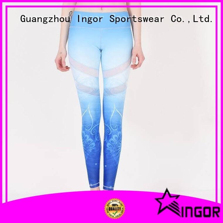exercise black Wholesale brands ladies leggings INGOR Brand yoga