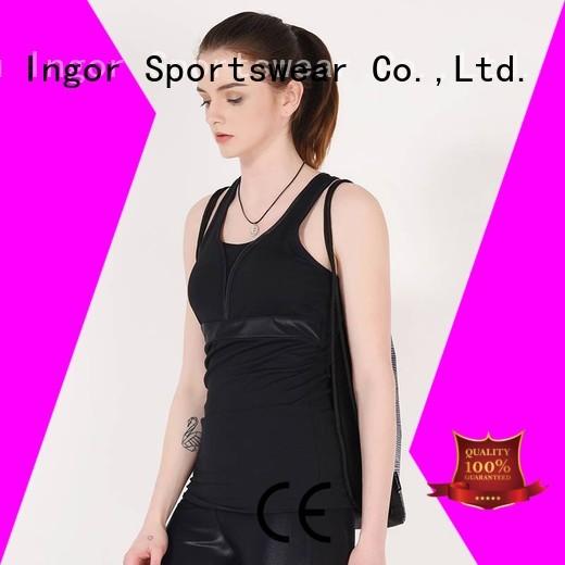 lycra cross tops women's workout tank tops INGOR manufacture