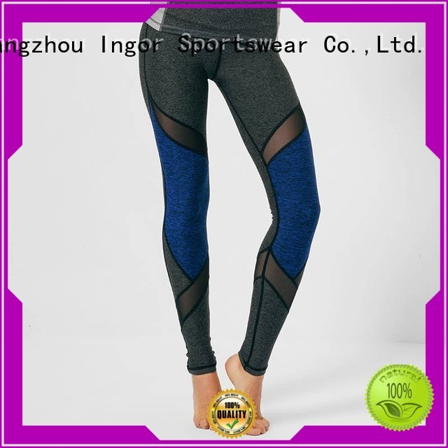 INGOR Brand leggings mesh running yoga pants manufacture