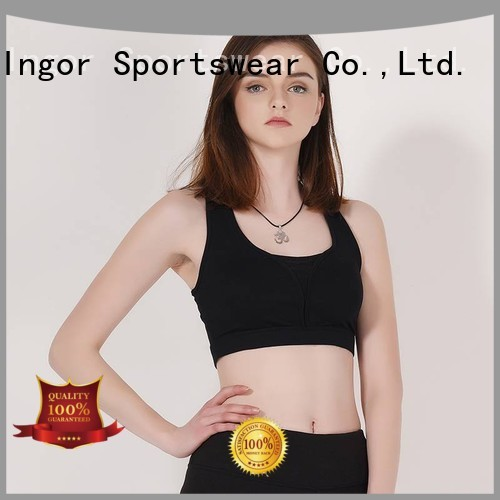 designer workout blue sports bra INGOR Brand company