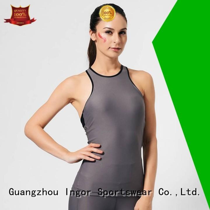 INGOR Brand yoga summer custom women's workout tank tops