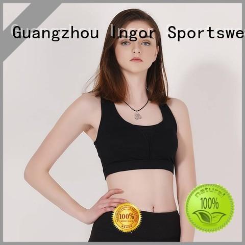 colorful sports bras zip women purple INGOR Brand company