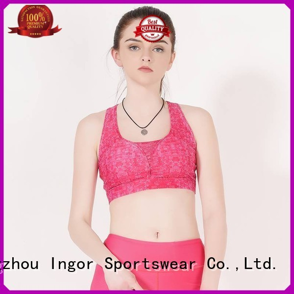 pink impact strap INGOR Brand sports bra