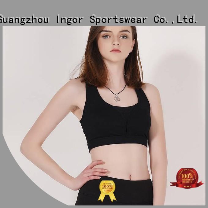 Hot wireless colorful sports bras performance INGOR Brand