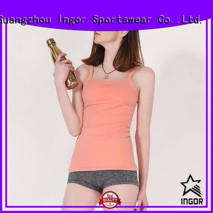 cross fashion tight women's workout tank tops INGOR Brand