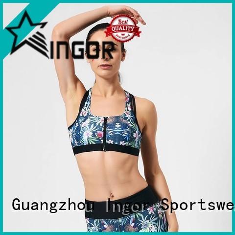 plain activewear colorful sports bras INGOR Brand