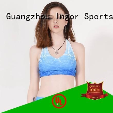 tops red grey impact INGOR Brand sports bra supplier