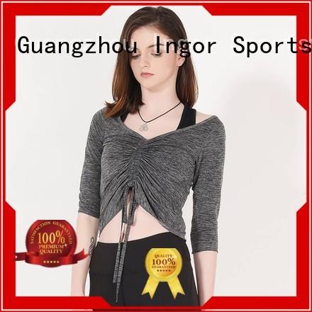 Wholesale tee sweatshirts for ladies compression INGOR Brand