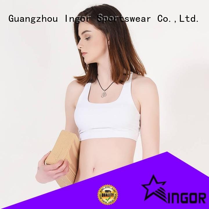 colorful sports bras pink burgandy sports bra INGOR Brand