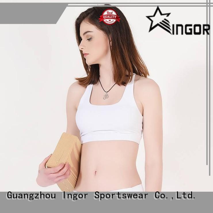Hot padded sports bra design support INGOR Brand
