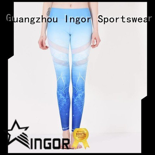 ladies leggings brands plain INGOR Brand yoga pants