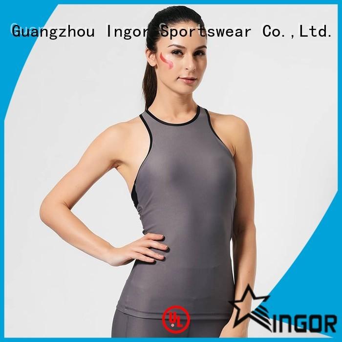 running spandex tank women's workout tank tops INGOR manufacture