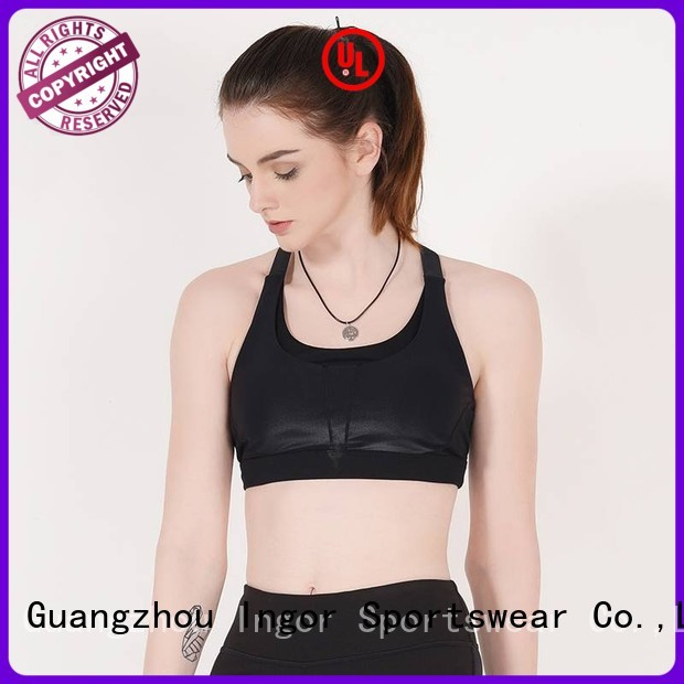 gym tops blue longline INGOR Brand sports bra supplier