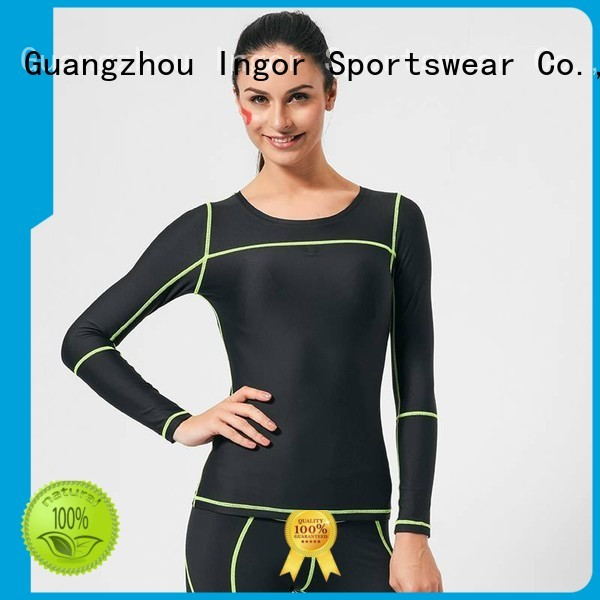 INGOR Brand design sleeve sweatshirts for ladies  running