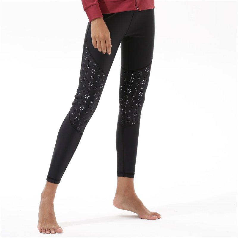 Y1921P22 Yoga Black Leggings For Women