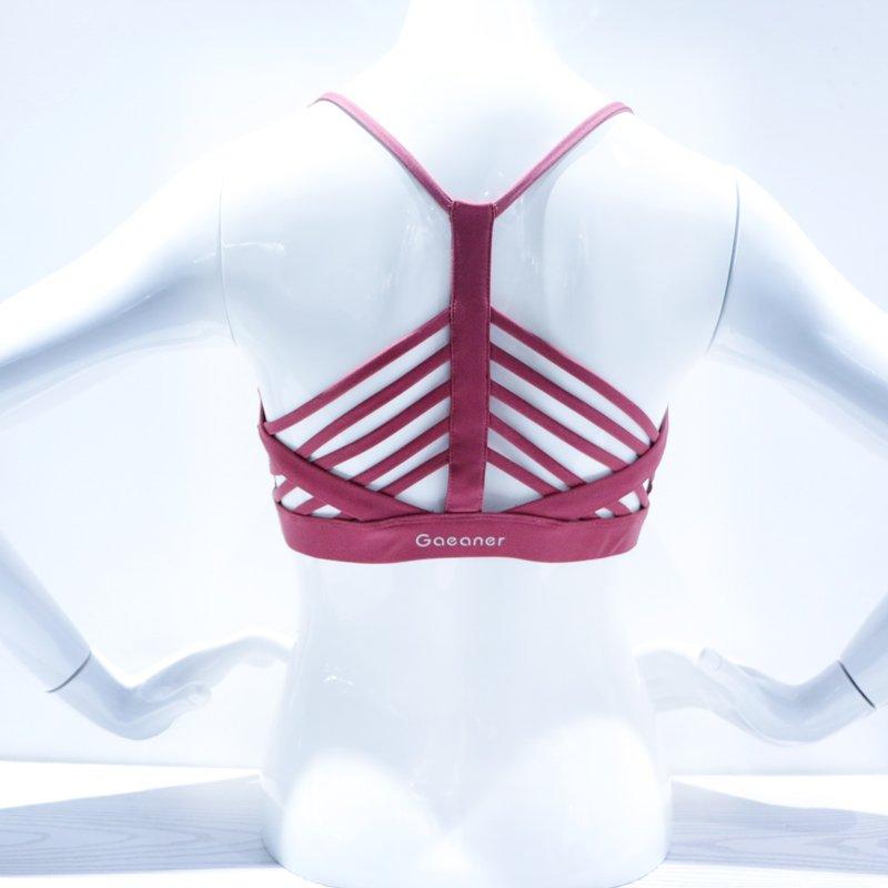 Medium Impact Red Sports Yoga Bra Y1922B10