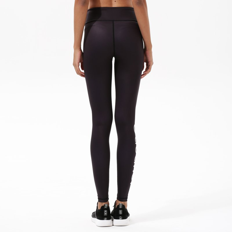 Y1921P14 Black Yoga Exercise High Waisted Leggings
