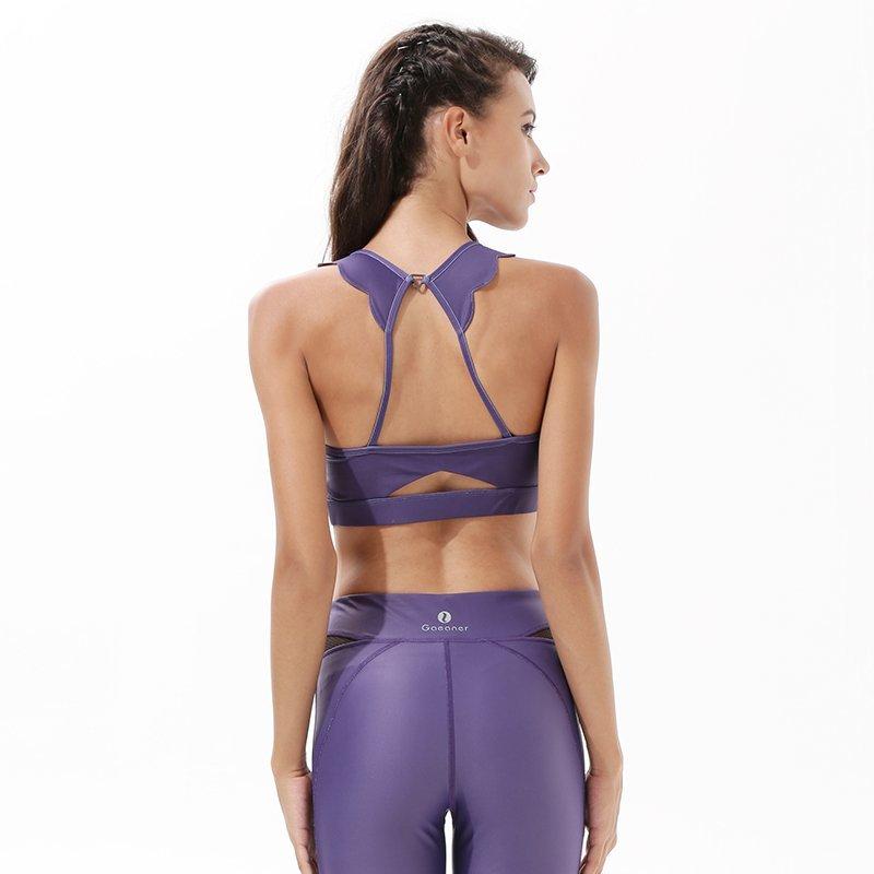 INGOR Adjustable Purple Padded Sports Bra Y1921B22