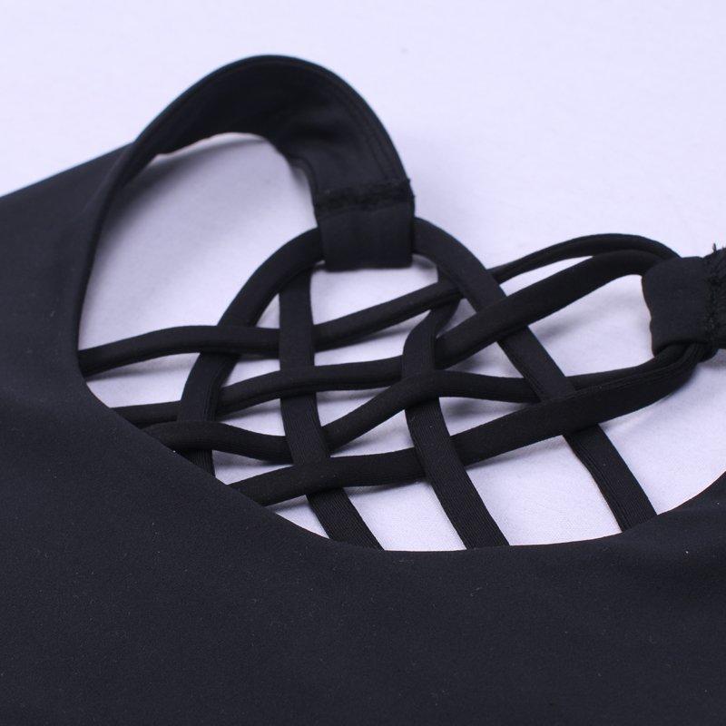 INGOR Fashion Black Padded Yoga Sports Bra Tops For Women JKB012 Sports bra image1