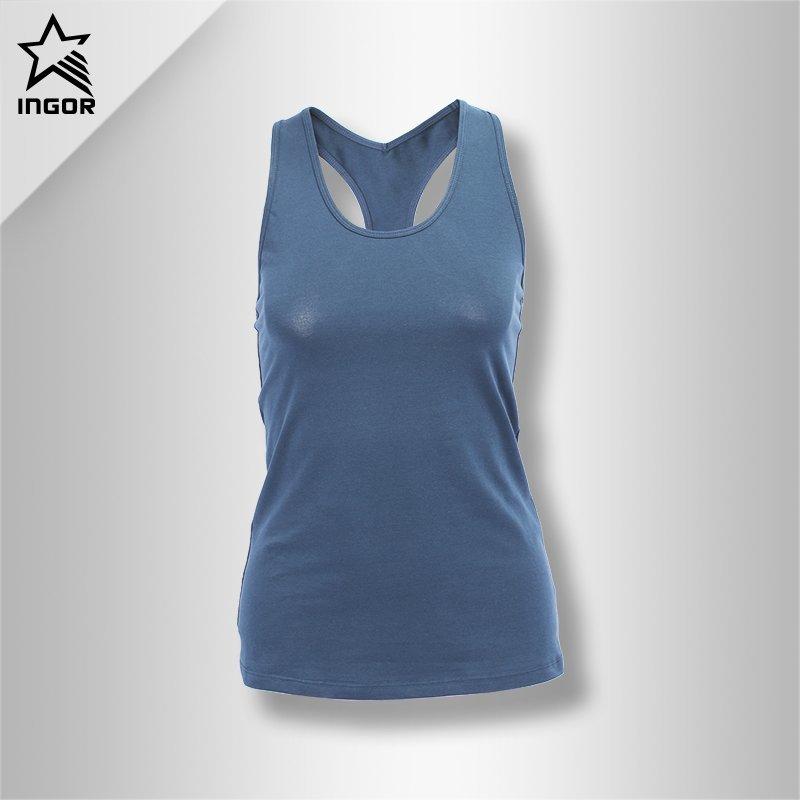 INGOR Fashion Summer Custom Plain Racerback Workout Tank Top Design Womens JK11V005 Tee & Tank top image2