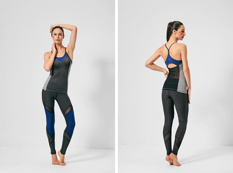 ladies leggings sports waist yoga pants printed INGOR Brand