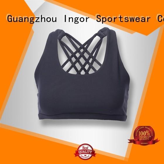 ladies fashion colorful sports bras INGOR manufacture