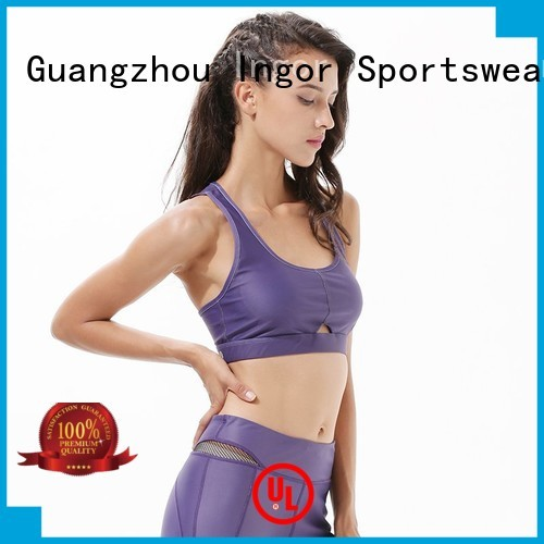 INGOR Brand padded comfortable colorful sports bras longline supplier