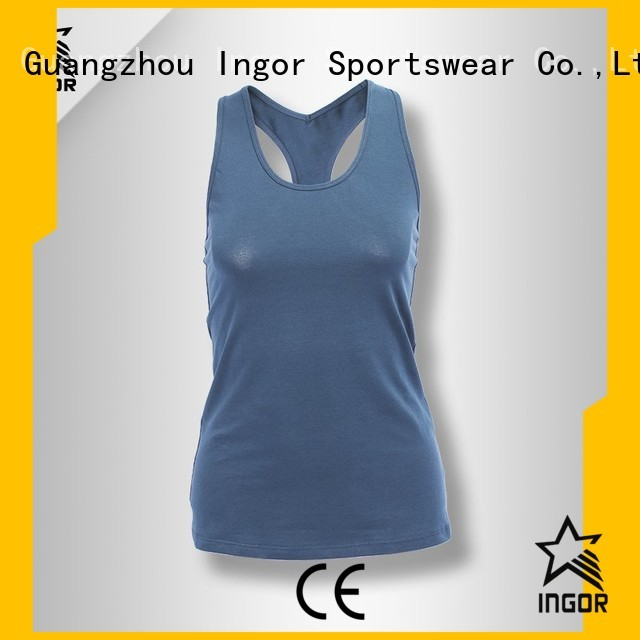fashion mesh racerback top INGOR Brand tank top supplier