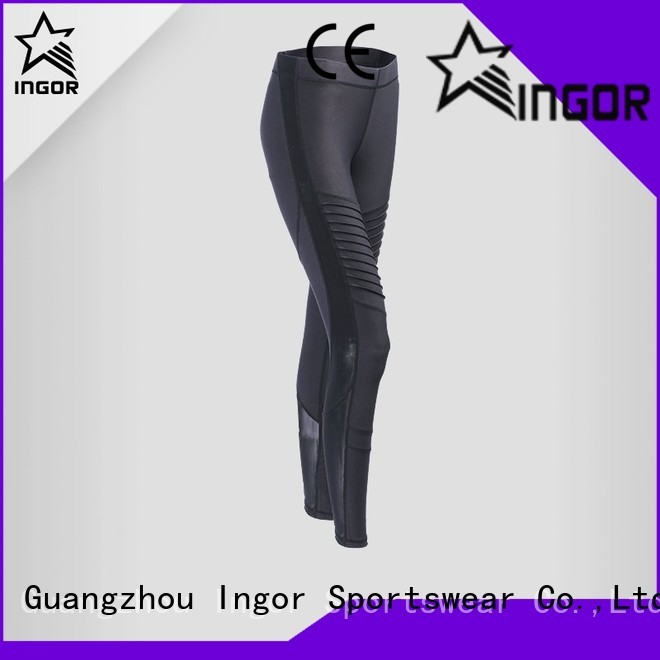 ladies leggings spandex running print INGOR Brand yoga pants