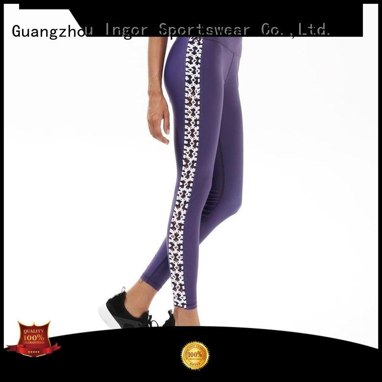 INGOR Brand patterned leggings ladies leggings blue supplier