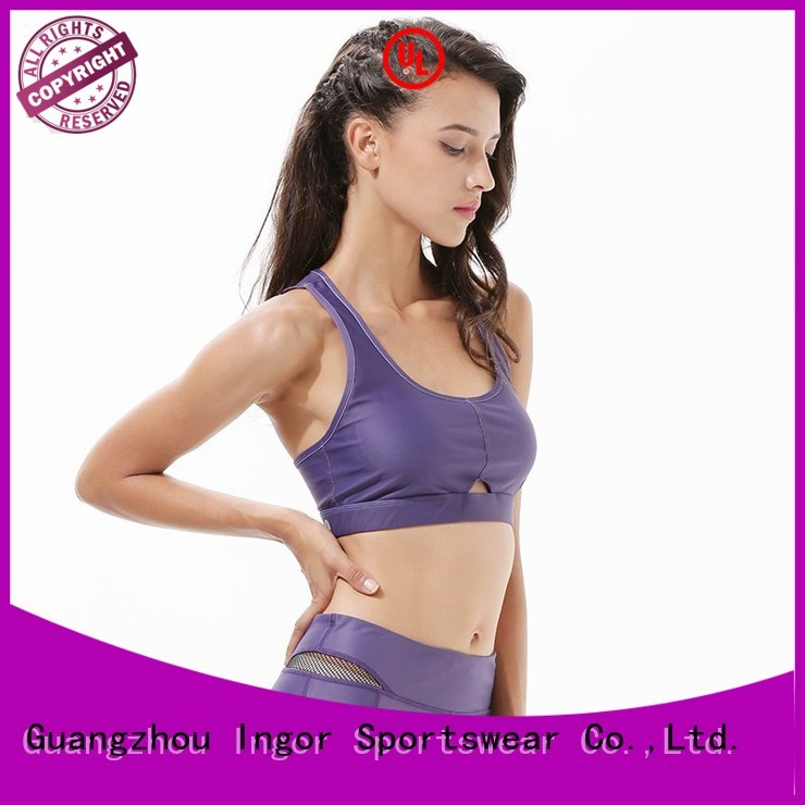 INGOR Brand burgandy neck custom colorful sports bras