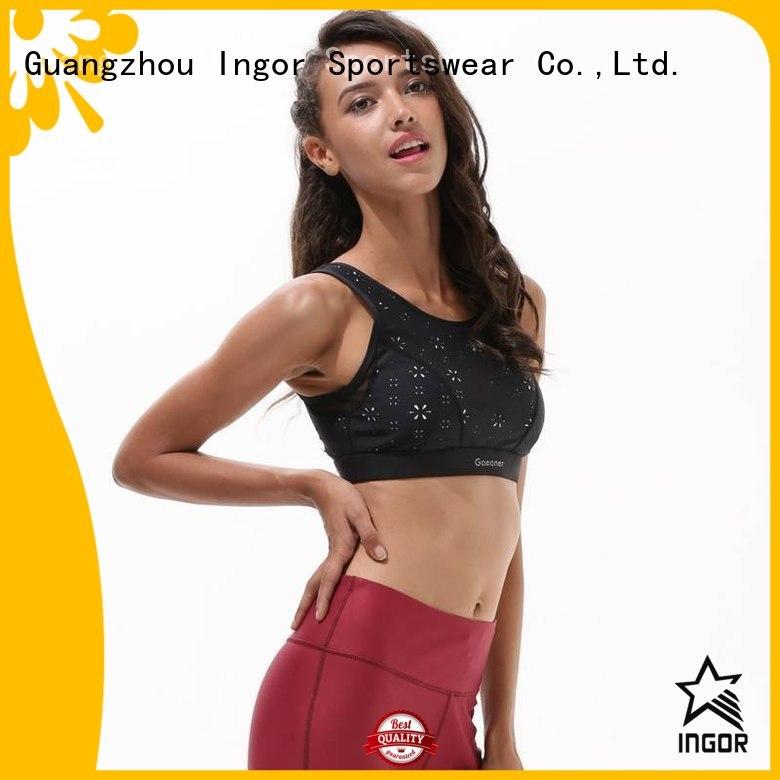 neck adjustable top colorful sports bras INGOR Brand