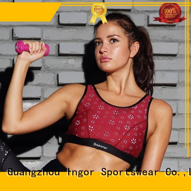 Wholesale strappy colorful sports bras INGOR Brand