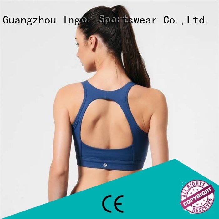 womens sports bra front INGOR company