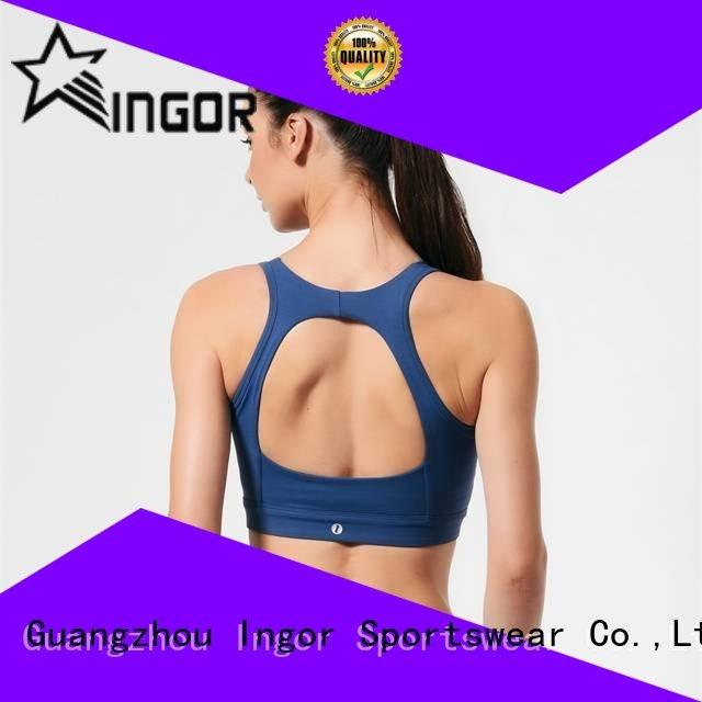 colorful sports bras zip medium sports bra manufacture