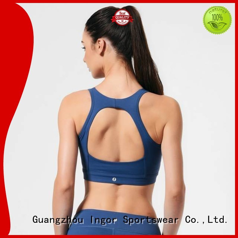 INGOR Brand plain strap custom colorful sports bras