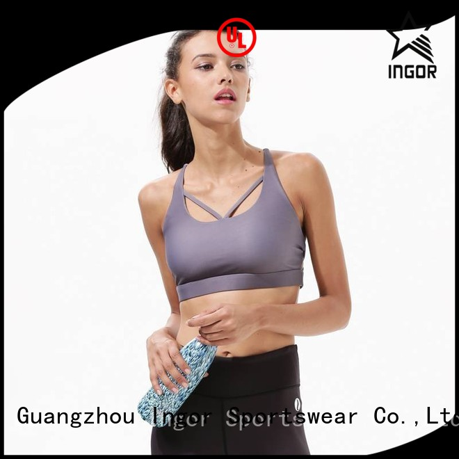 patterned fashion top OEM sports bra INGOR