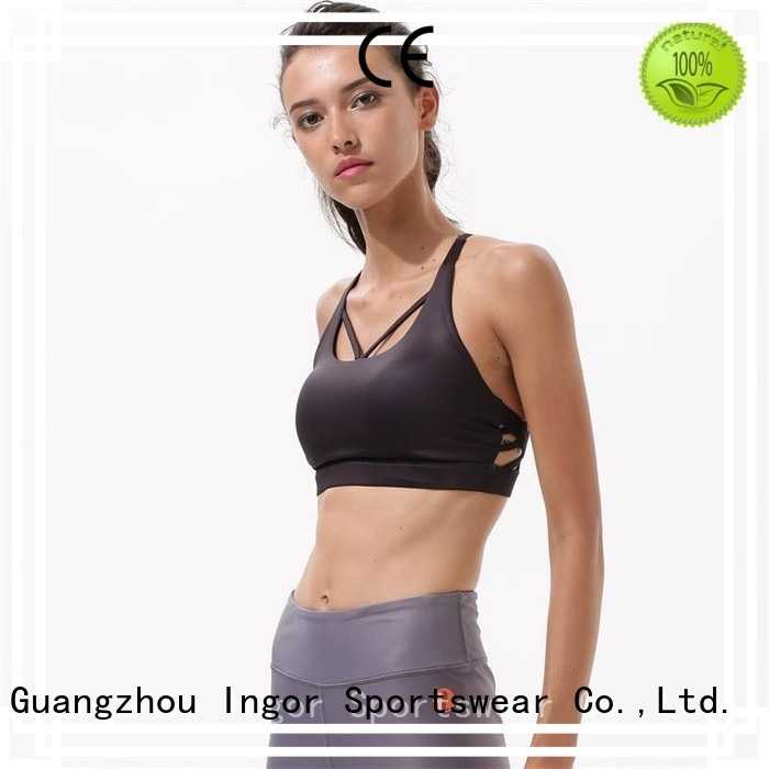 Quality INGOR Brand black sports bra